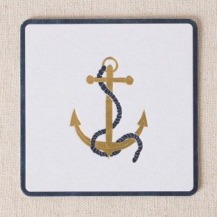 Anchor letterpress and foil coasters