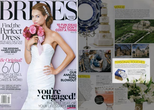 Smock in Brides Magazine, December 2013-January 2014 issue