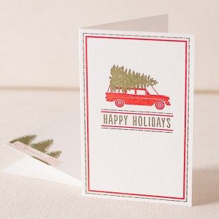 Holiday Wagon letterpress cards