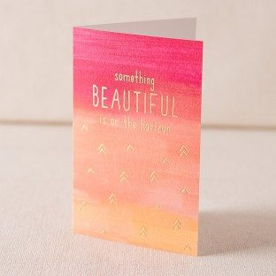 Beautiful Horizon digital and foil card