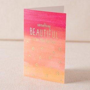 Beautiful Horizon digital and foil card