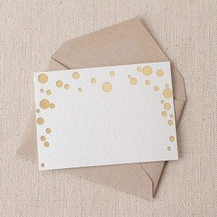 Dots foil stamped gift tags