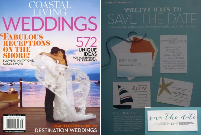 Smock's Rainier Save the Date in Coastal Living Weddings