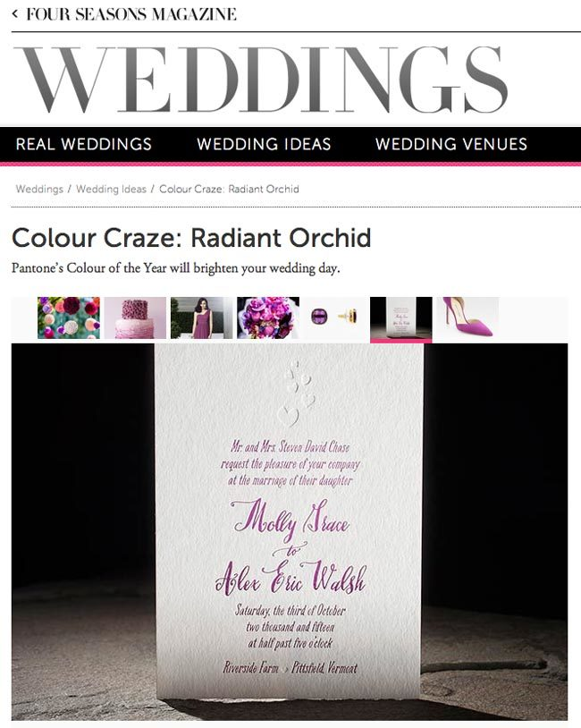 Smock invitations featured by Four Seasons Weddings