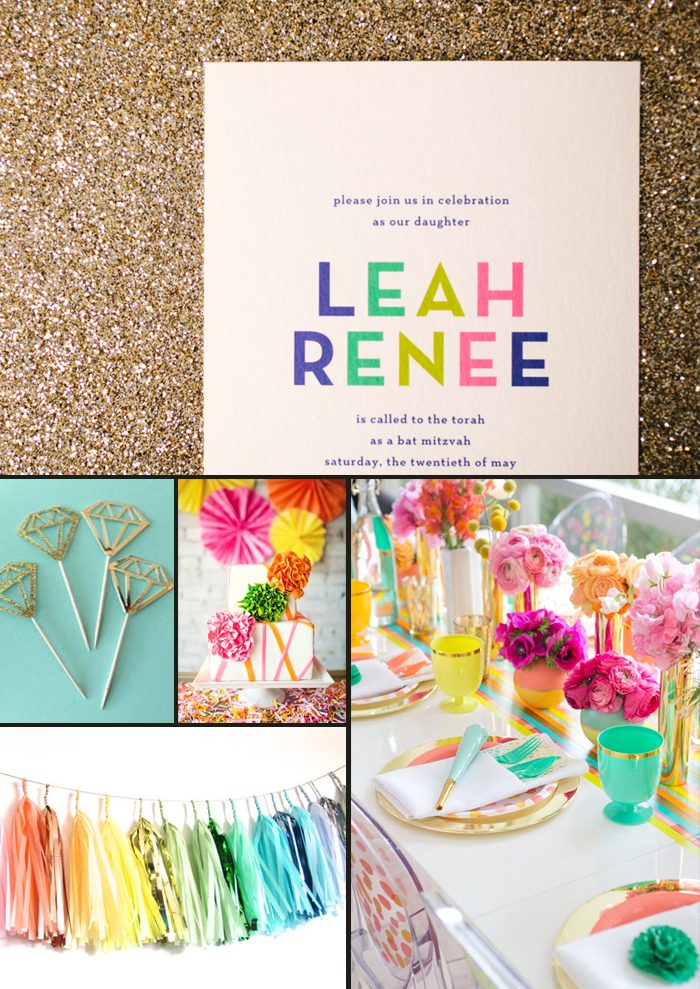 Brynn Bat Mitzvah Invitations + Party Inspiration