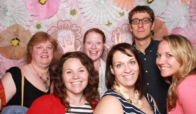 The Smock team at the Paper Party photo booth!