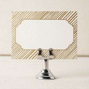 noel foil stamped escort cards