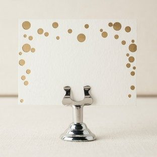 Dots foil stamped escort cards