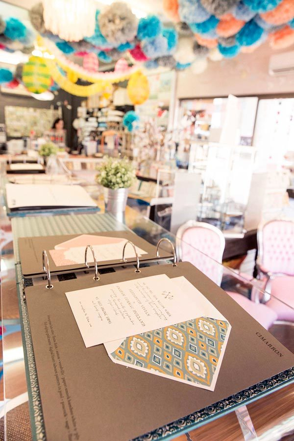 Smock albums on display at Annie P. Paperie in Perth, Australia