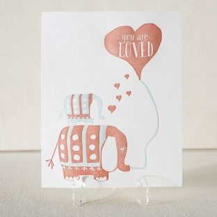 You are loved letterpress art print from Smock - perfect for a nursery!