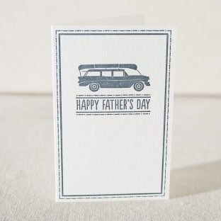 Father's Day Adventures letterpress father's day card from Smock