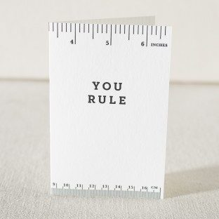 You Rule letterpress graduation card from Smock