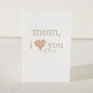 Mom I love you mother's day card from Smock