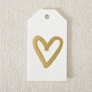 Gold foil stamped die-cut gift tags from Smock