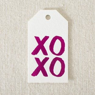 Hot pink foil stamped XOXO gift tags from Smock