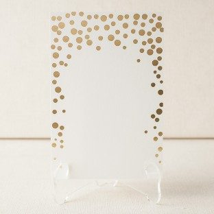 Gold foil Dots flat note cards from Smock