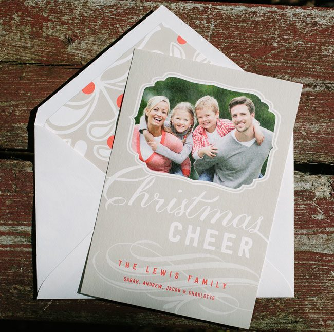 Amira custom holiday photo cards from Smock