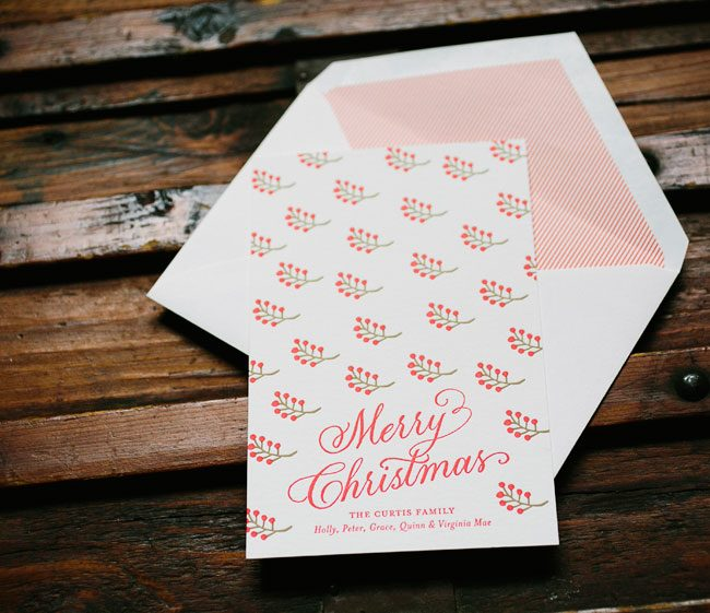Berries custom holiday cards from Smock