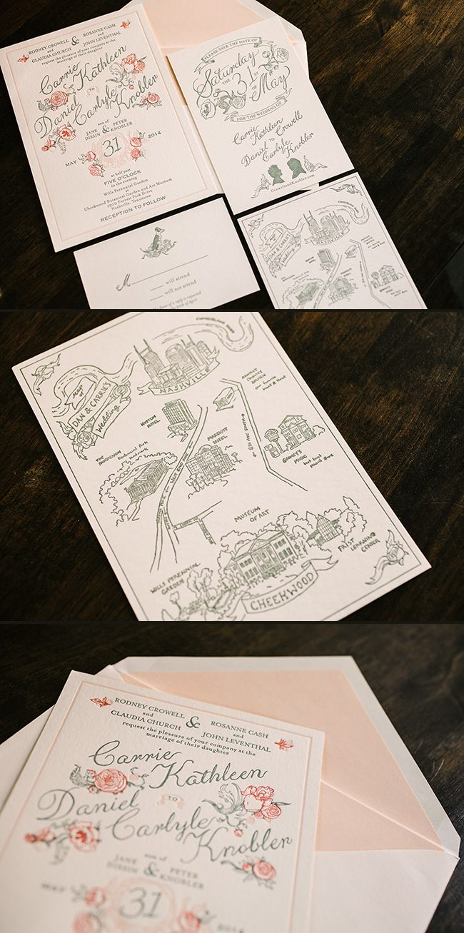 Custom letterpress wedding invitations from Smock