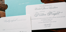 Tiffany & Co. inspired Bridal Shower invitations from Smock