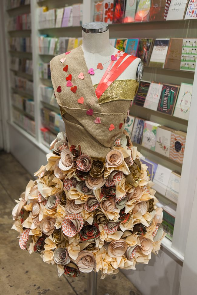 Beautiful springtime window display at Seaside Papery