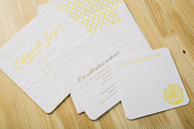 Elegant Finley Bat Mitzvah invitations from Smock
