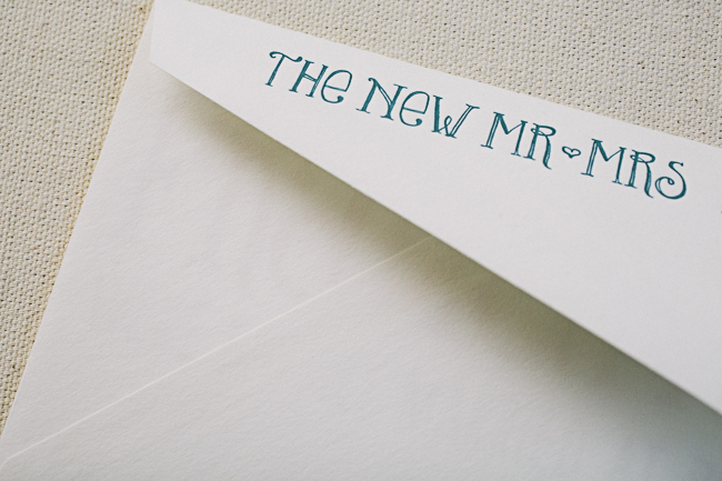 """The New Mr & Mrs"" envelopes from Smock"