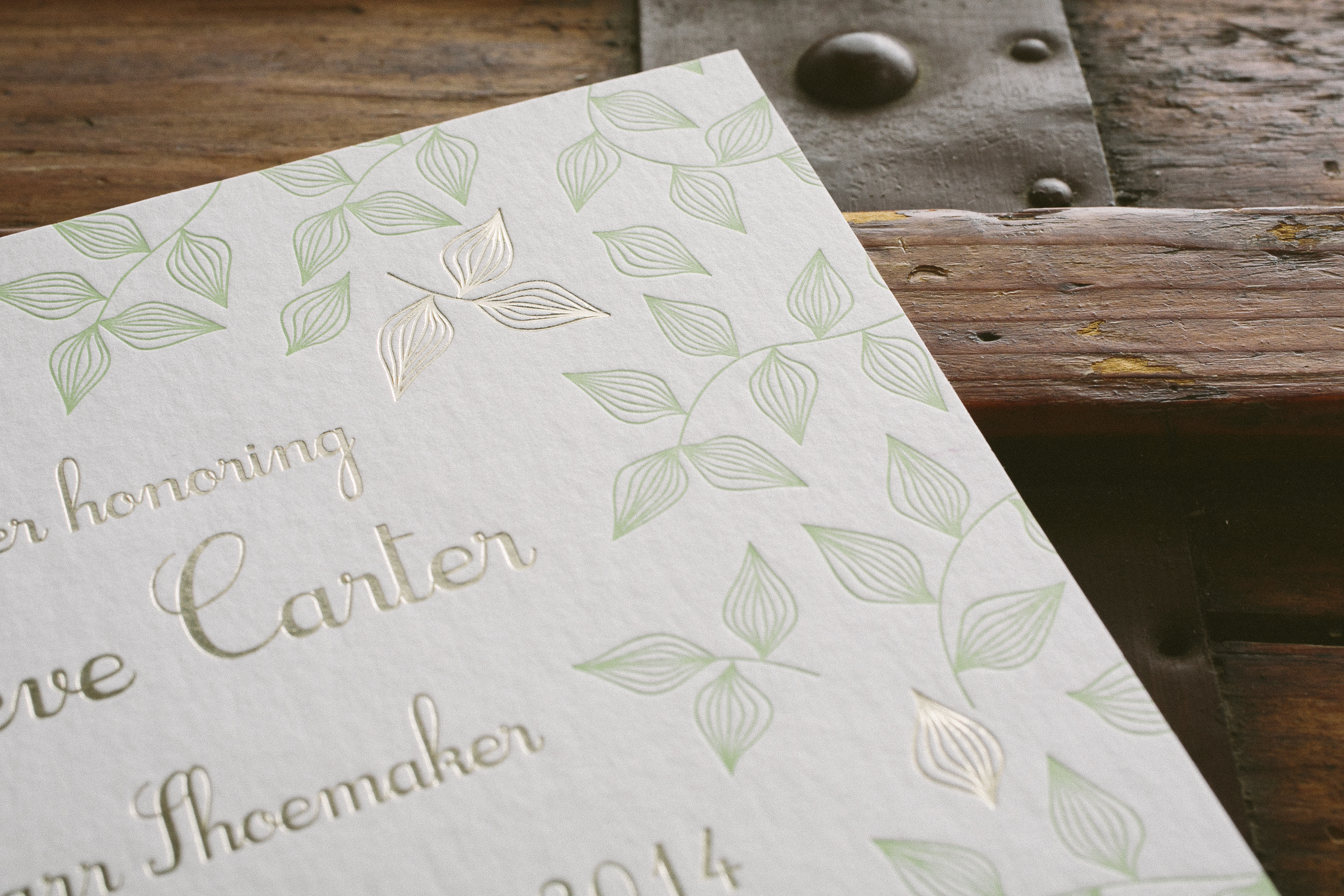 letterpress + foil - Smock.