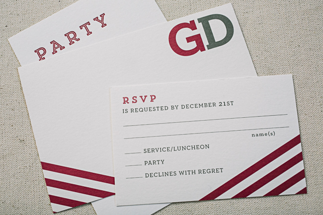 Modern Monogram Bar Mitzvah invitations from Smock