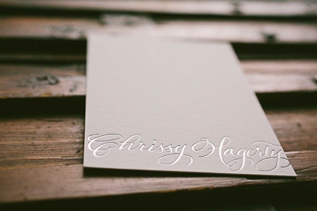 Sophisticated custom foil stamped social notes from Smock