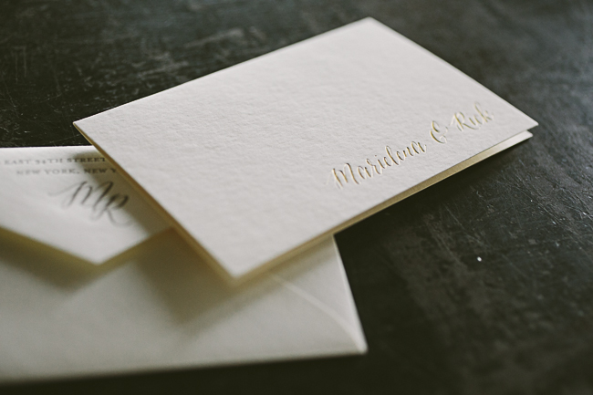 Custom gold foil Finley wedding stationery from Smock
