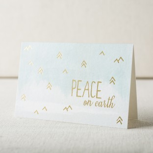 Peace on earth holiday cards from Smock