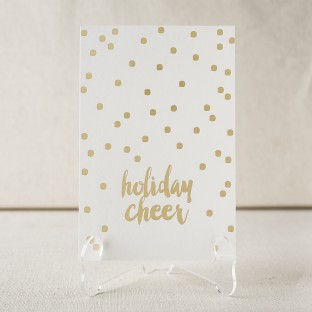 Holiday Cheer gold foil stamped holiday photo flats from Smock