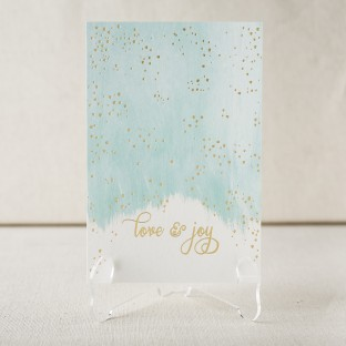 Love & Joy gold foil stamped holiday photo flats from Smock