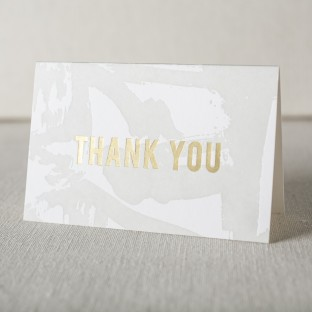 Flynn letterpress + gold foil stamped thank you notes from Smock