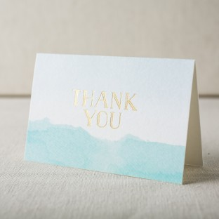 Blue + gold foil stamped thank you notes from Smock