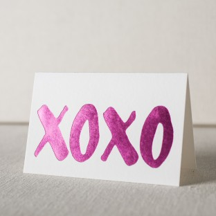 XOXO hot pink foil stamped notes from Smock