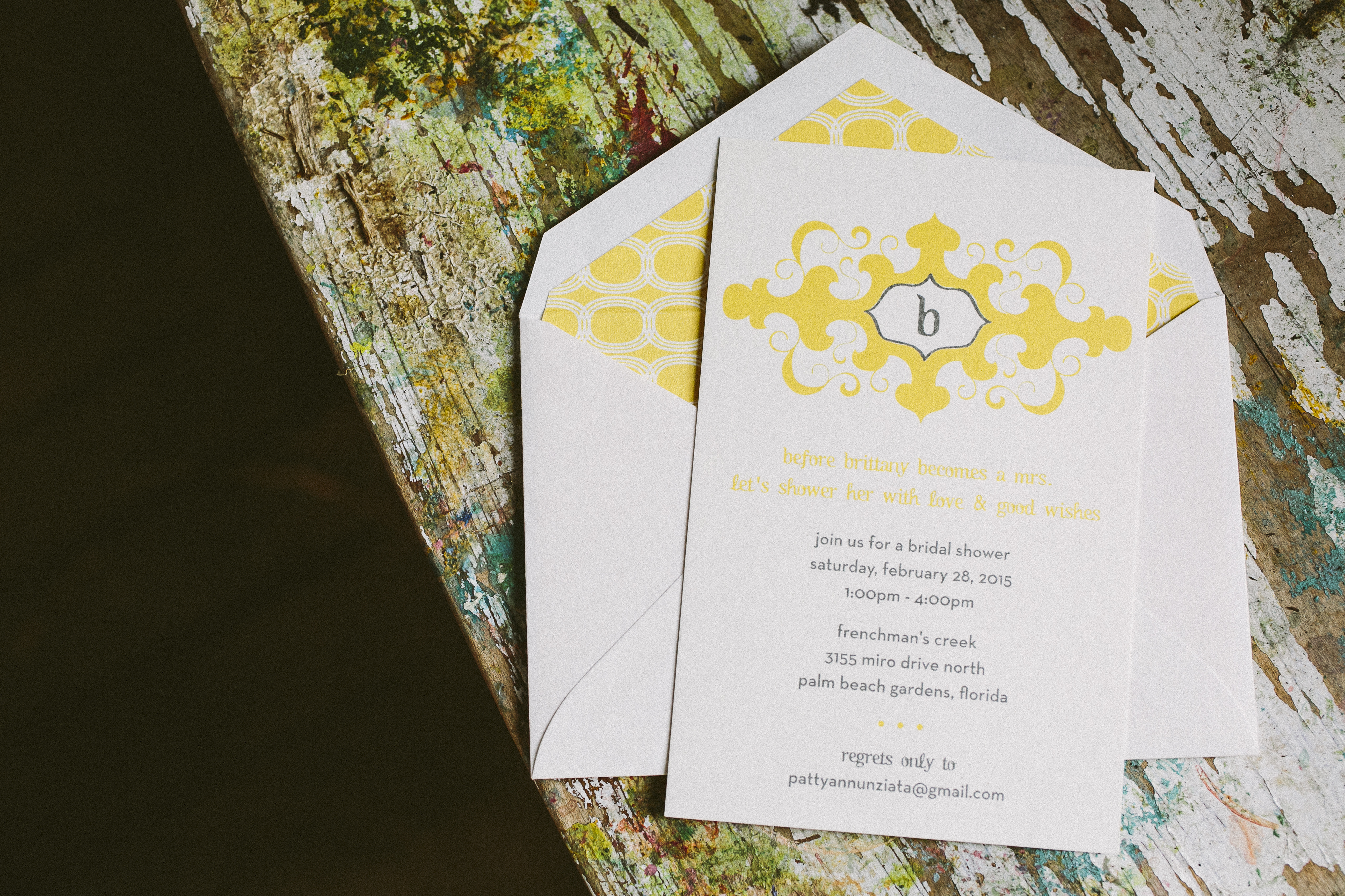 Modern bridal shower invitations from Smock