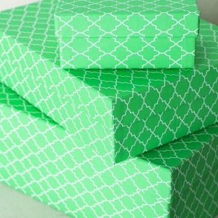 Spring Boxes | bright green keepsake boxes from Smock