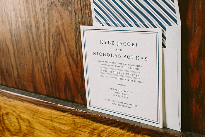 Modern square wedding invitations from Smock