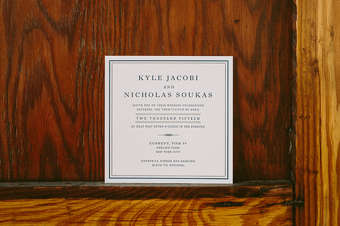 Modern navy invitations from Smock
