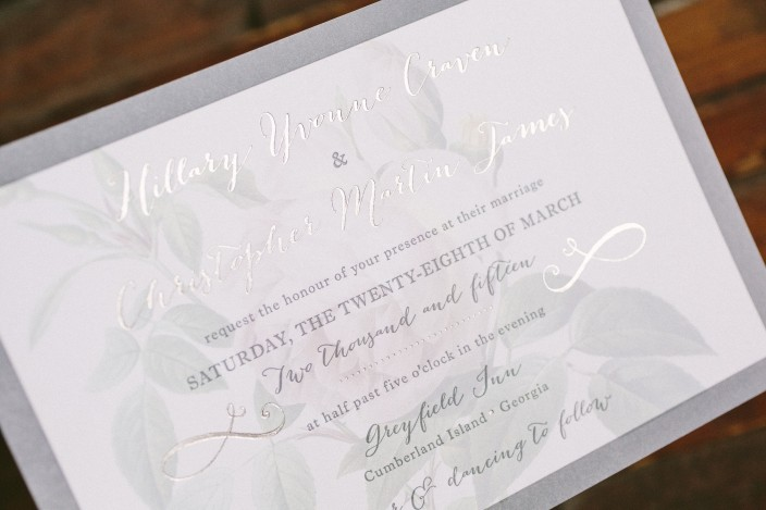 Rose wedding invitations by Smock