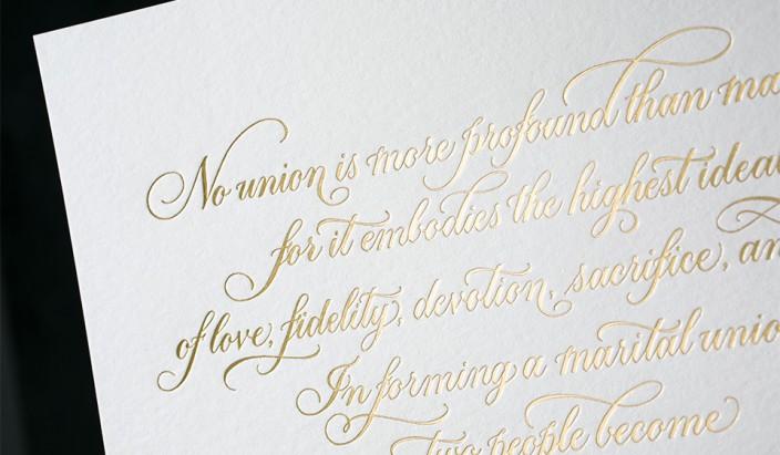 Love wins gold foil stamped art print