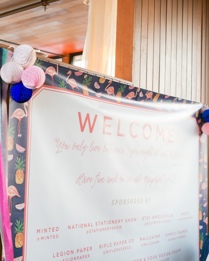 Welcome Sign designed by Swiss Cottage Designs for Paper Party