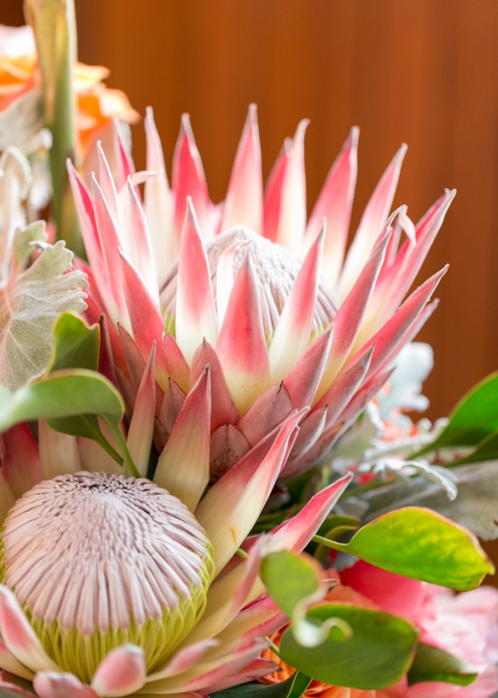 Gorgeous tropical flower arrangements
