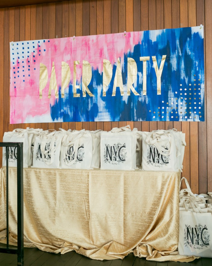 Rifle Paper Co. swag bags at Paper Party 2015