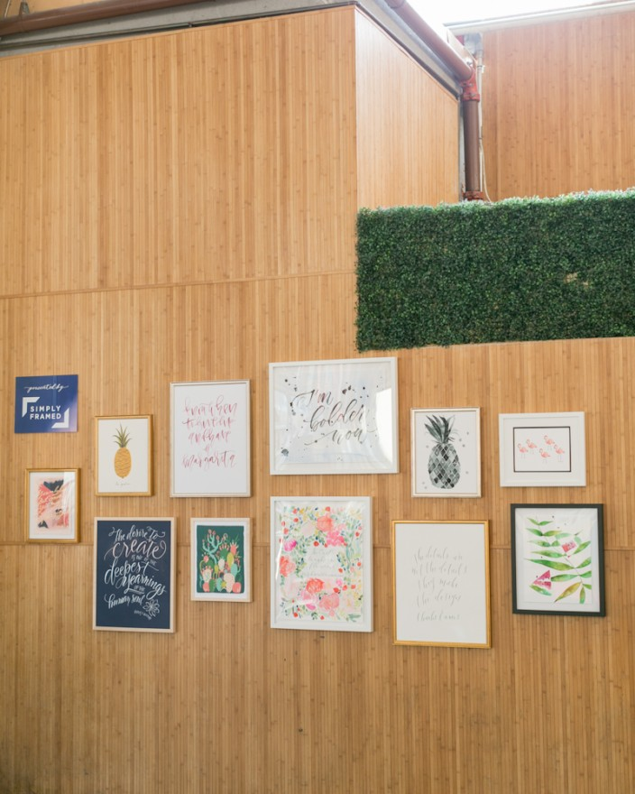 Gallery wall at Paper party 2015