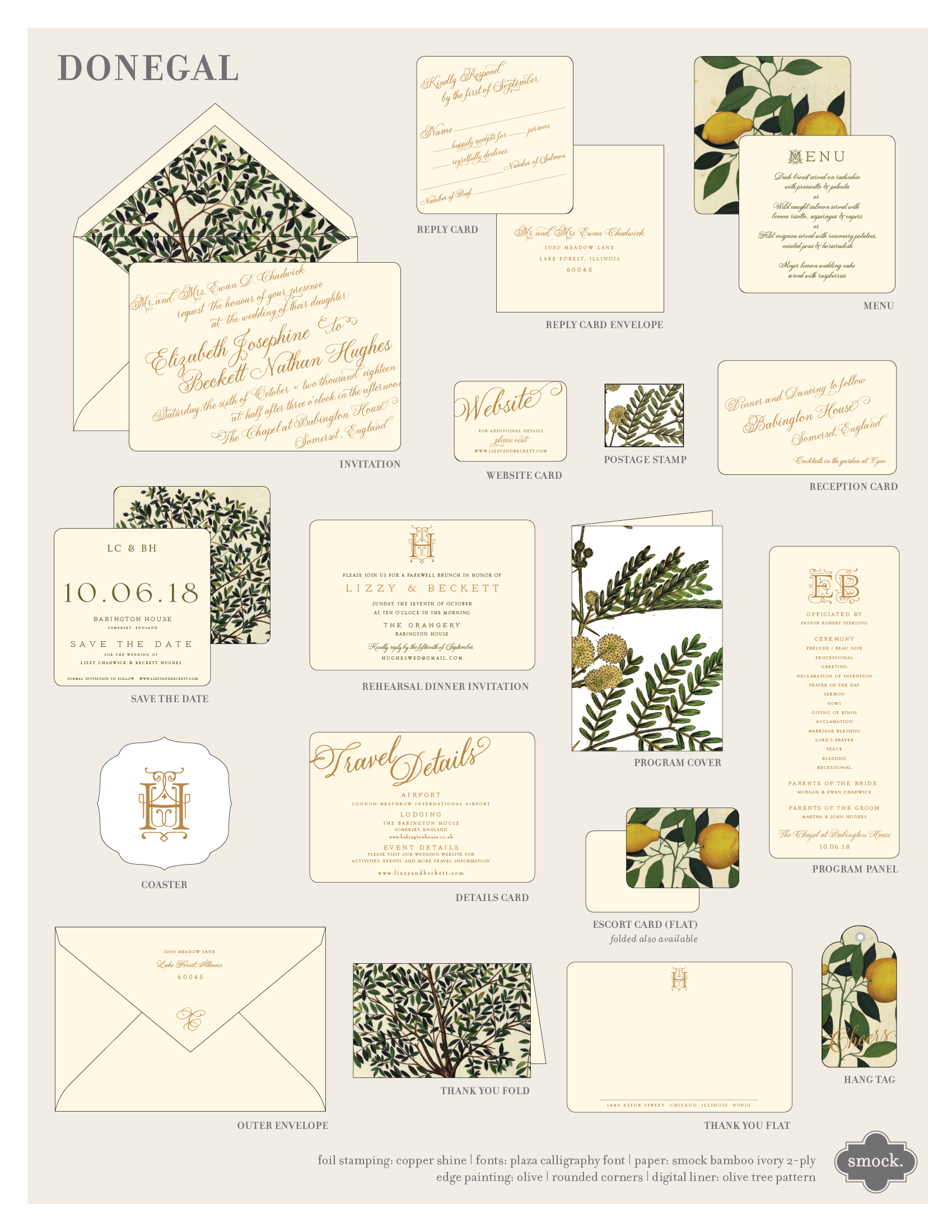 Custom digital and foil Wedding invitations
