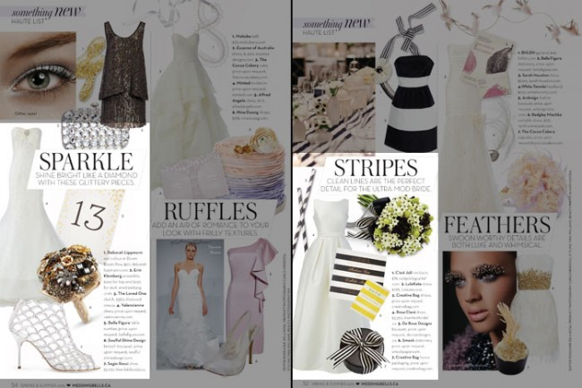 Smock featured in Wedding Bells Magazine Spring/Summer 2015 Issue