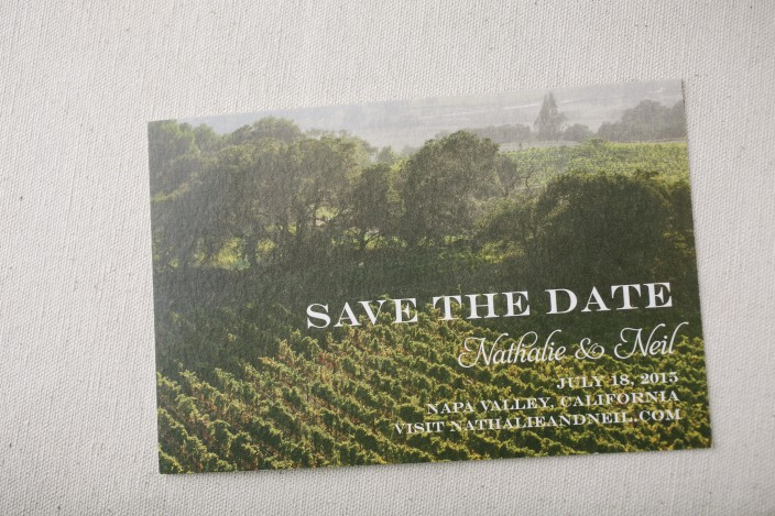Napa Valley save the dates